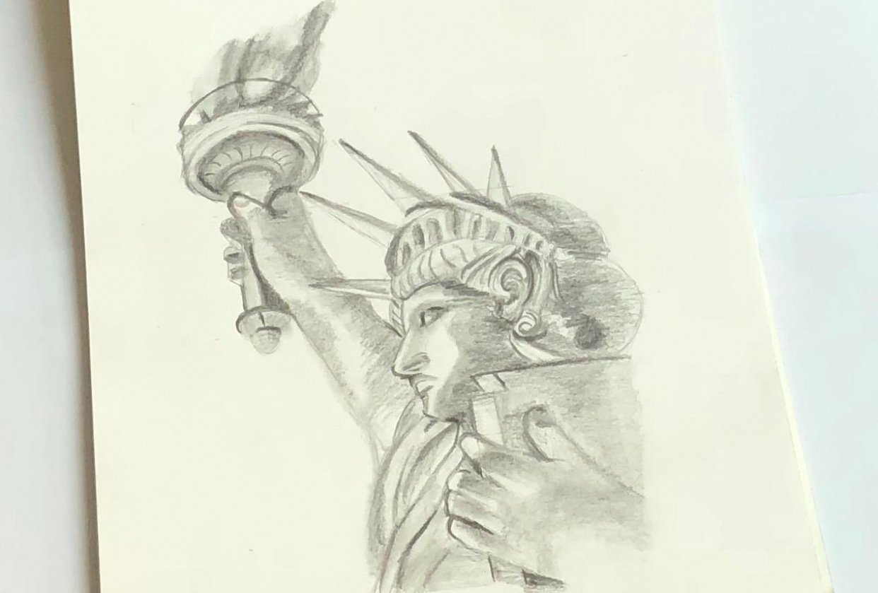 Statue drawing - student project