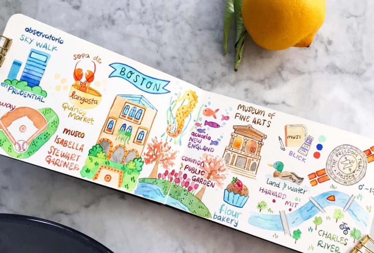 Draw my Travel to Boston - student project