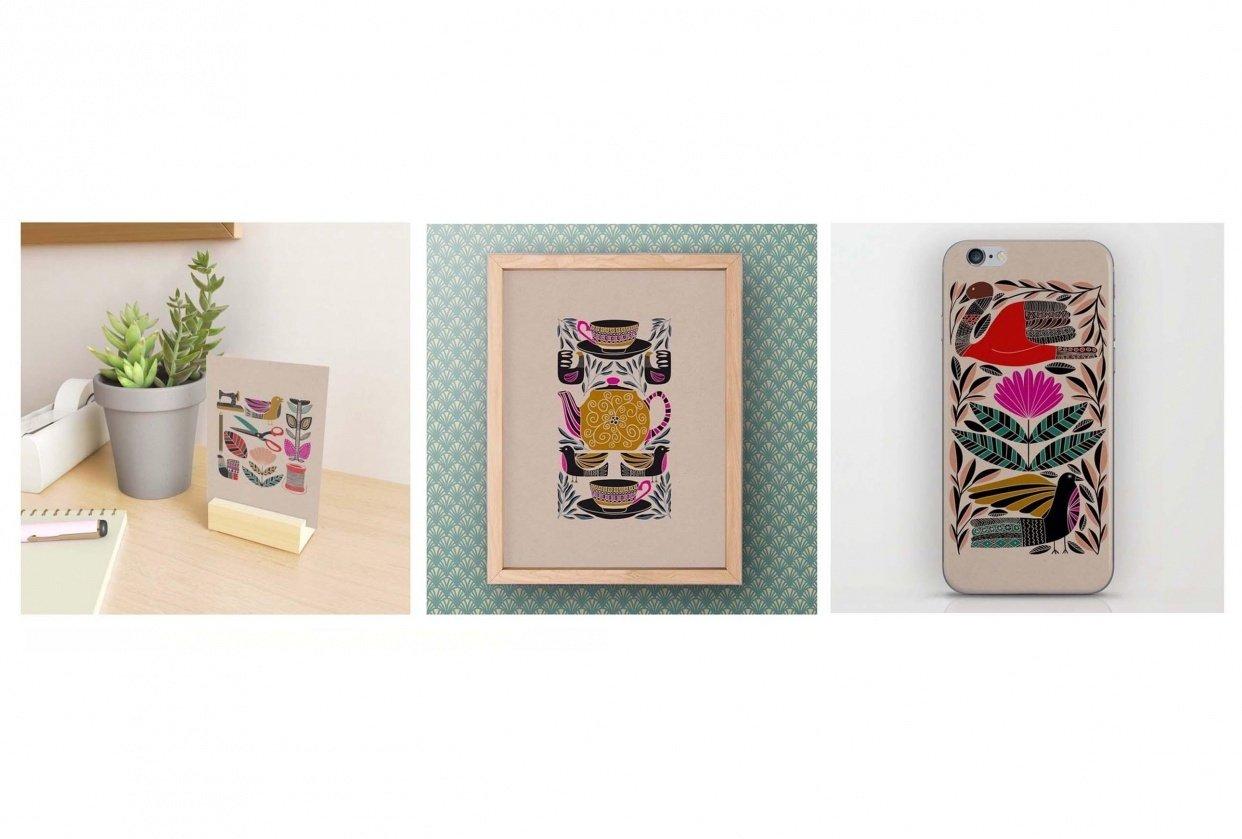 Folk Art Illustrations in Procreate - student project