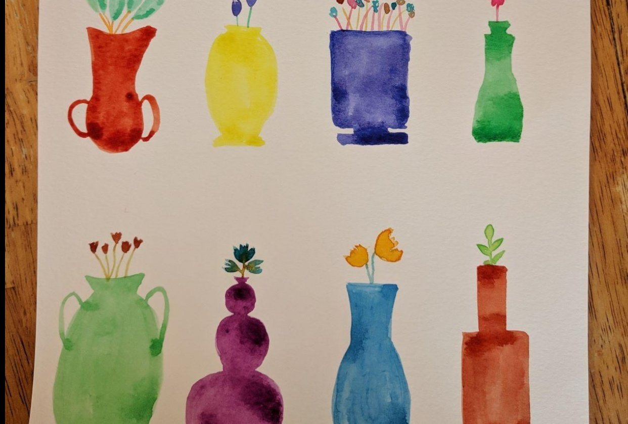 Vase Cards for Mother's Day - student project