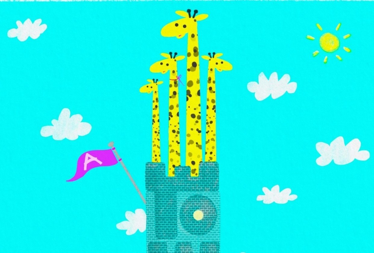 a tower of giraffes - student project