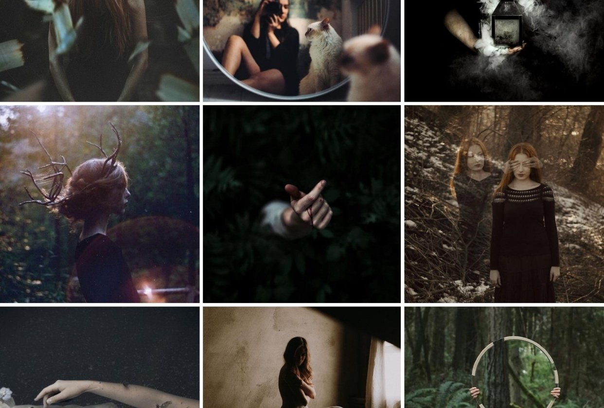 Ethereal & moody, Dark & campy - student project