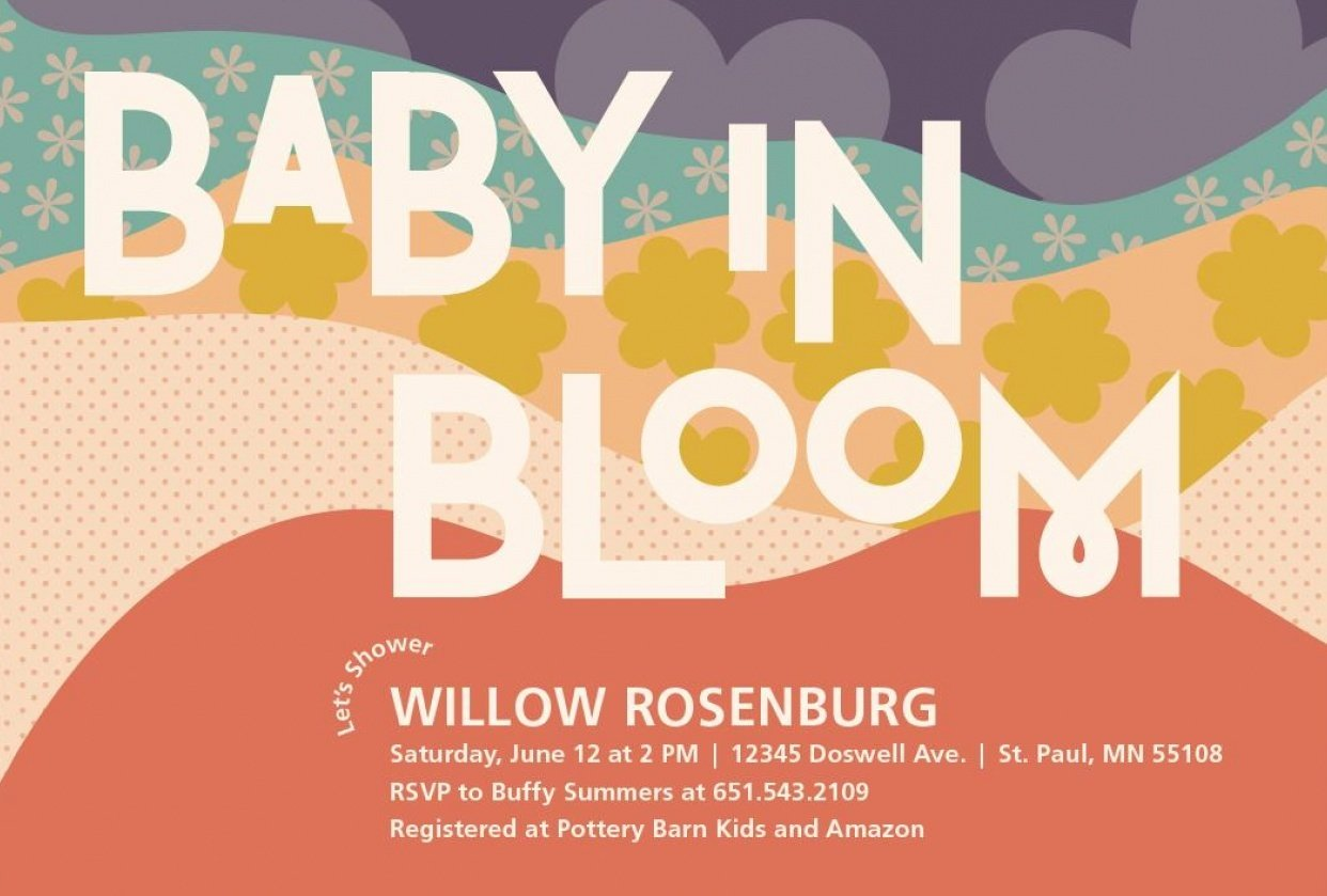 Trendy Pattern Baby Shower Invites for Minted Design Challenge - student project