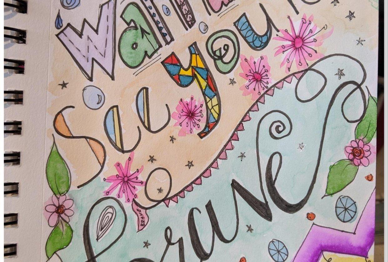 Lines, Paint & Letters - student project