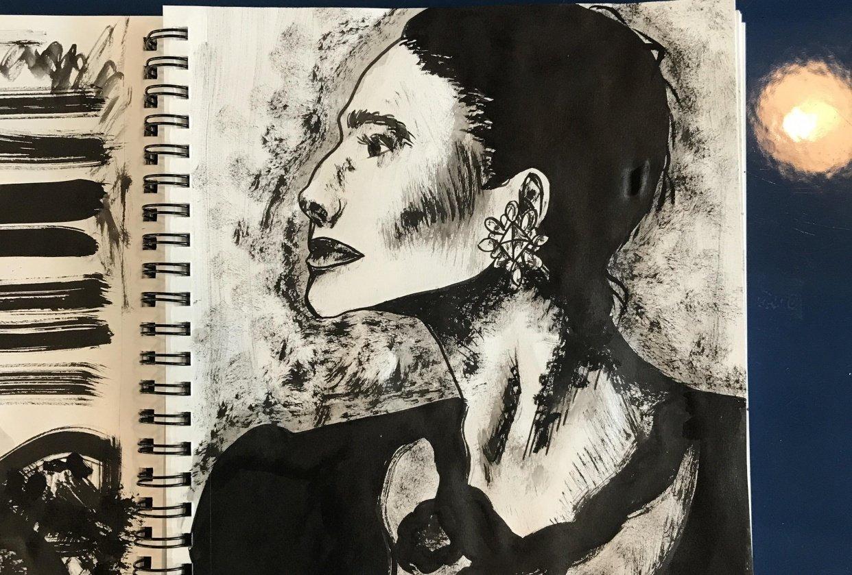 Ink portrait - student project