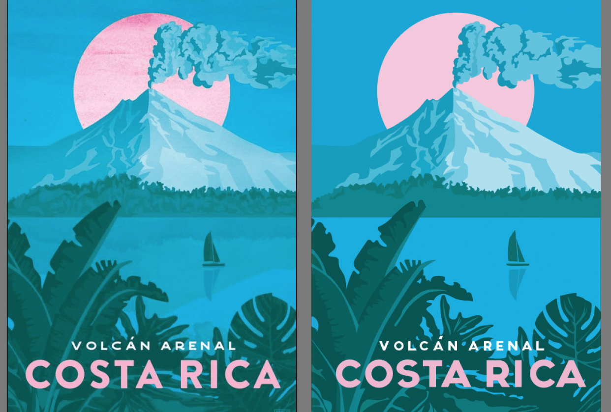 Missy Ames' Costa Rica Travel Poster - student project