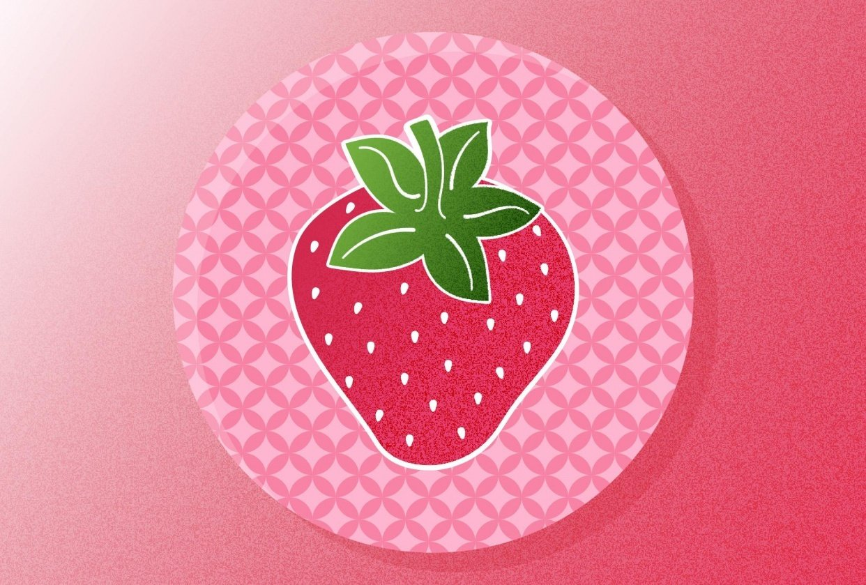 Textured Strawberry - student project