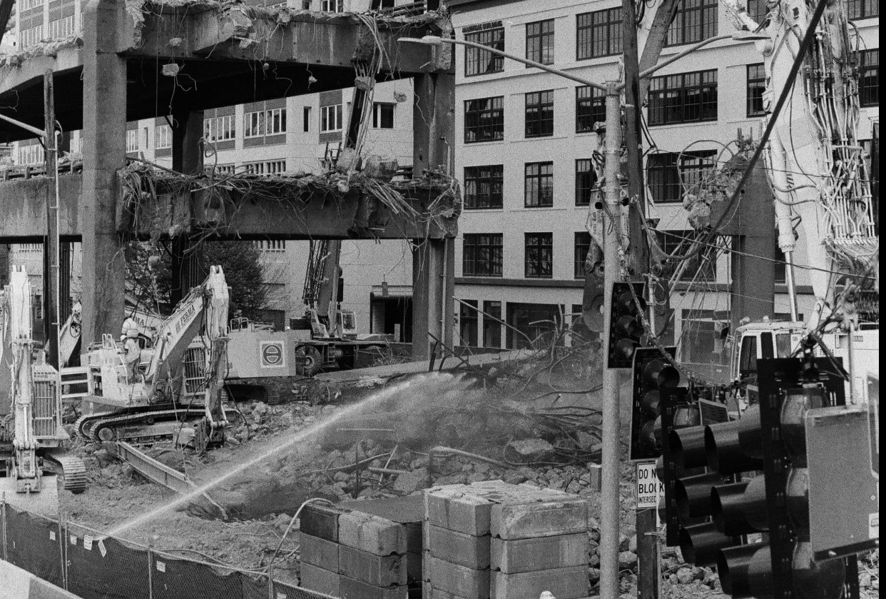 Seattle Viaduct Demolition (50mm ilford 400) - student project