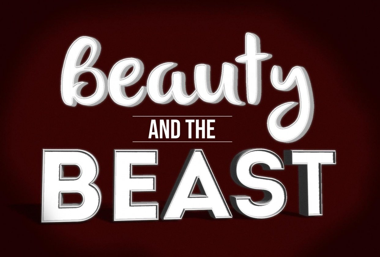 Beauty and the Beast - 3D Text - student project