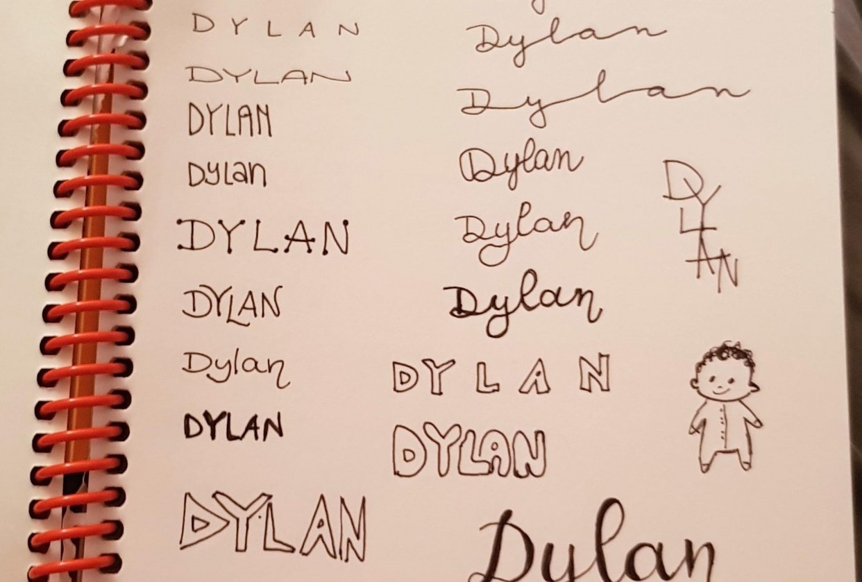 Playing around with my son's name - student project