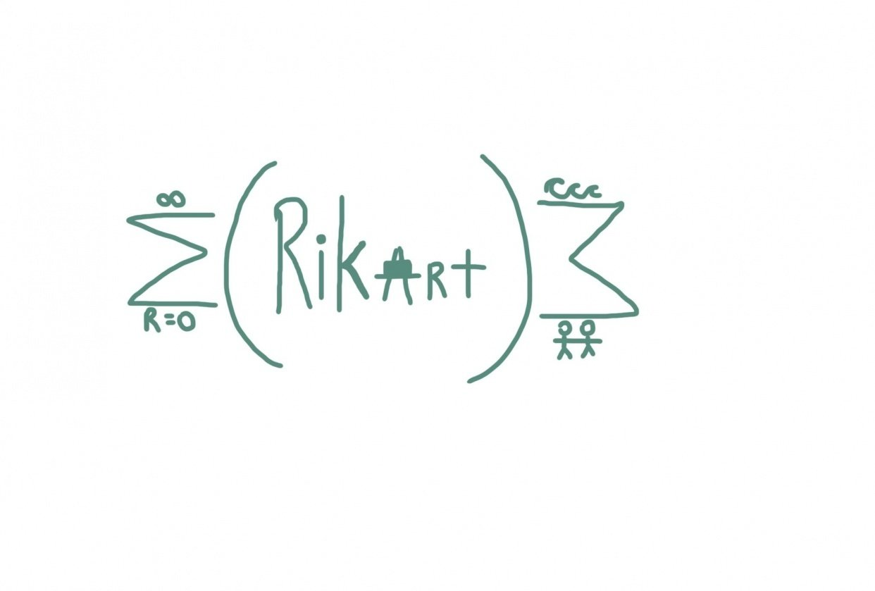My logo- supposed to include maths, art and the cross. And my name - Rika - student project