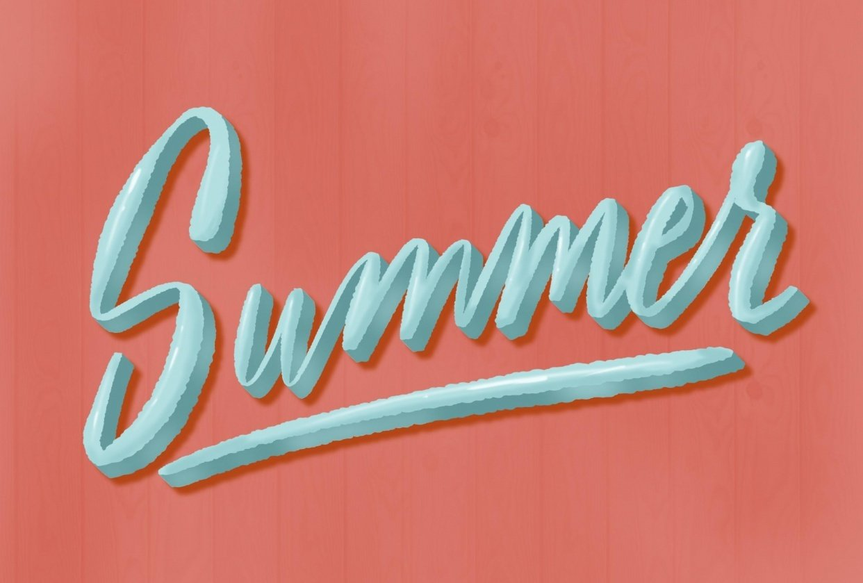 Summer Lettering - student project
