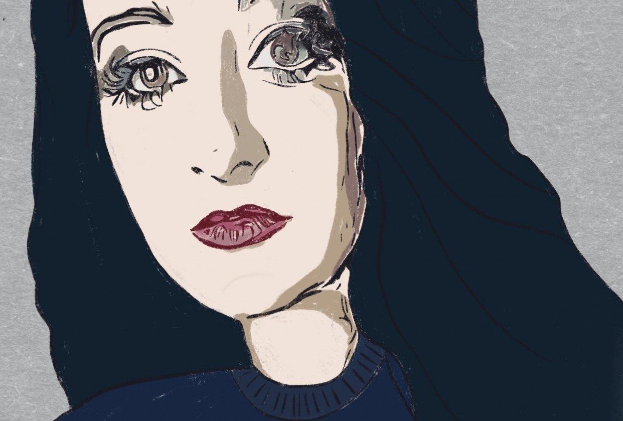 Pastel Self Portrait - student project