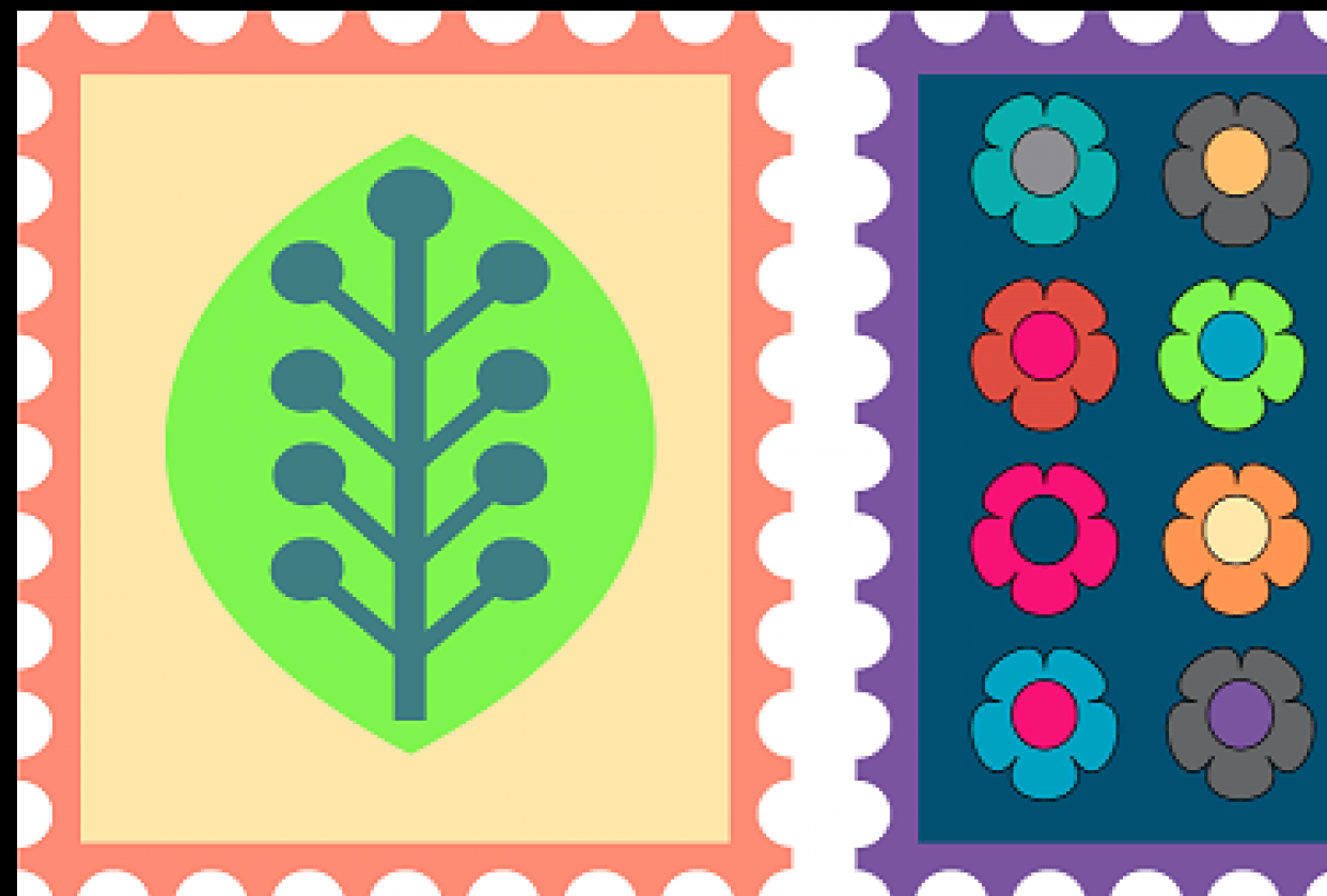 Stamps Made in Illustrator - student project