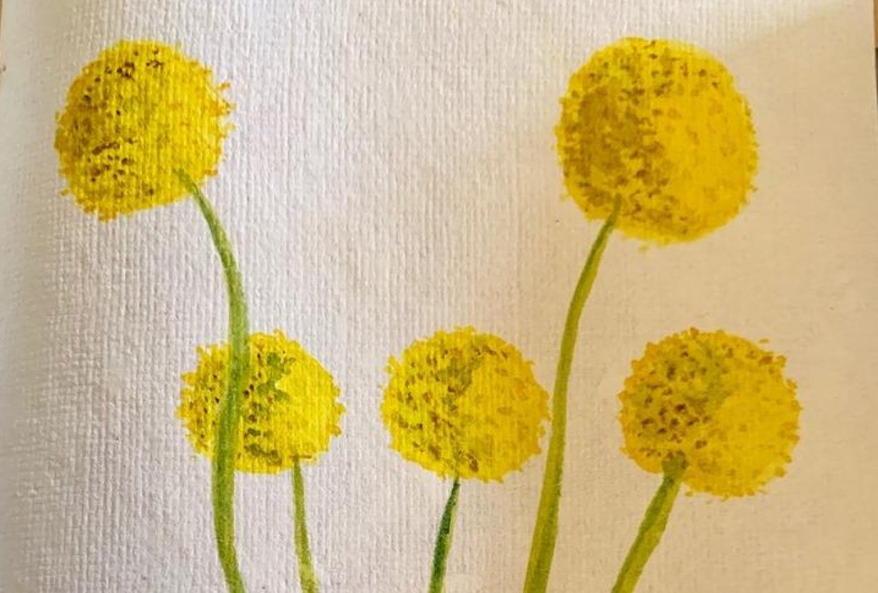 Painting Flowers with Marks: Painting Challenge - student project