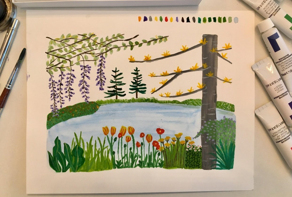 Monet's Gardens - student project