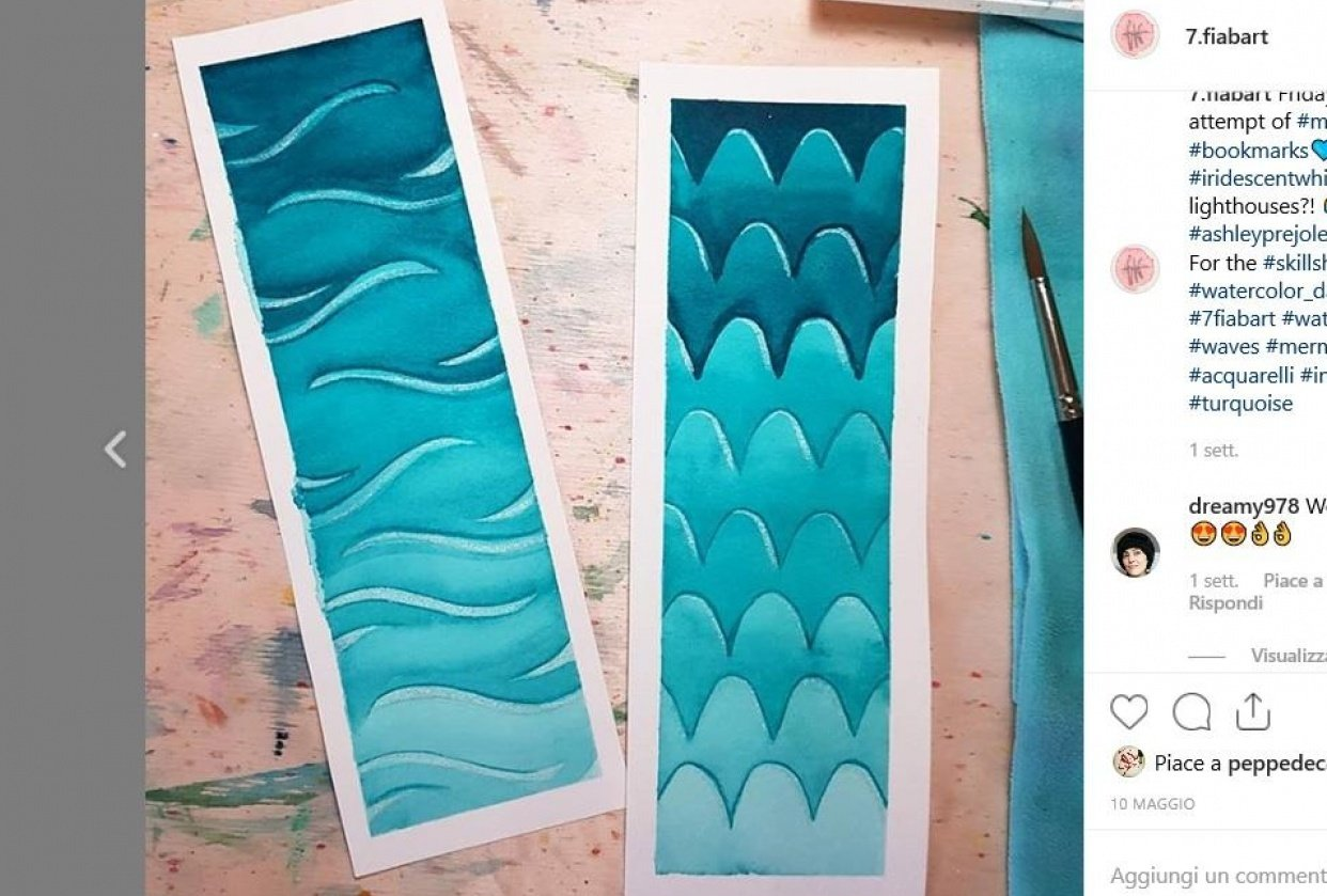 Bookmark Negative Painting - student project