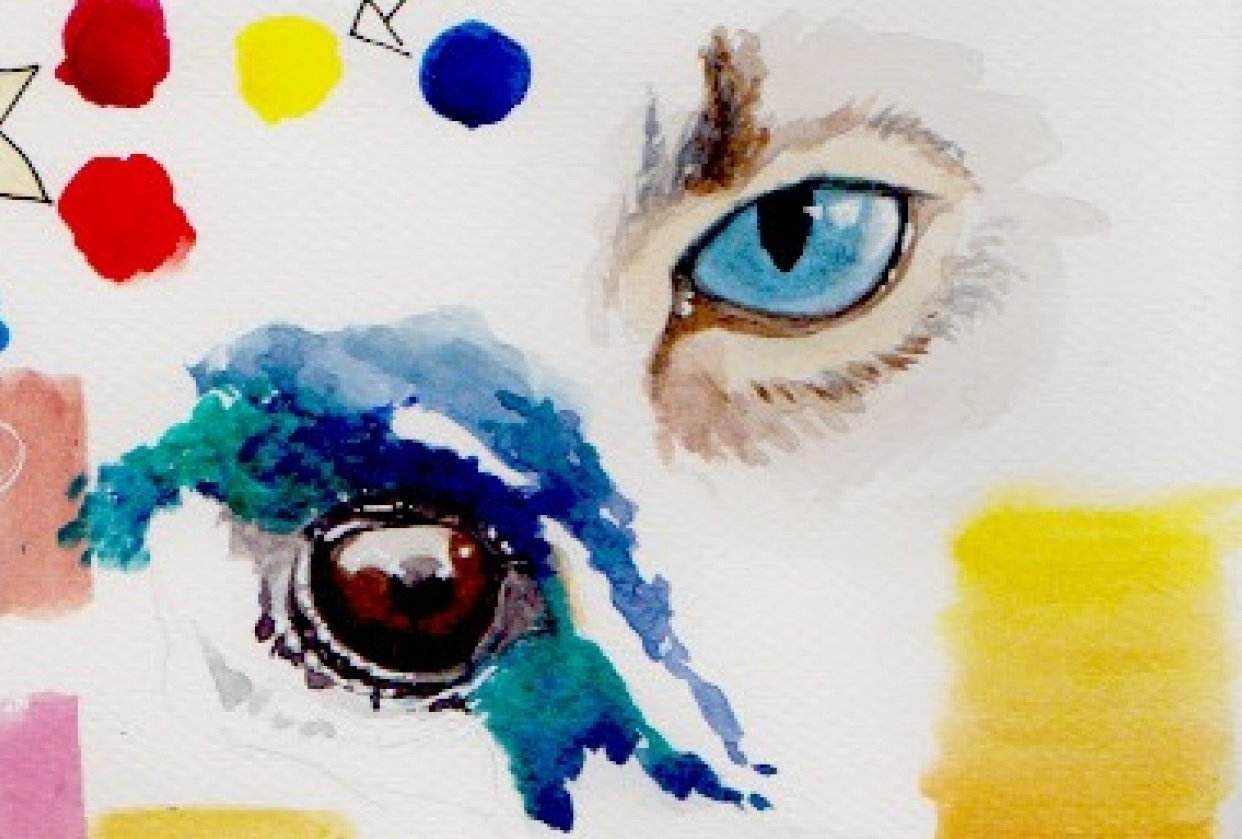 Working on eyes. - student project