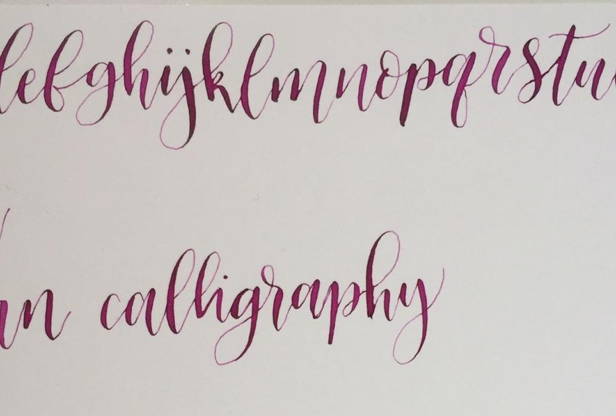 Modern Calligraphy - student project