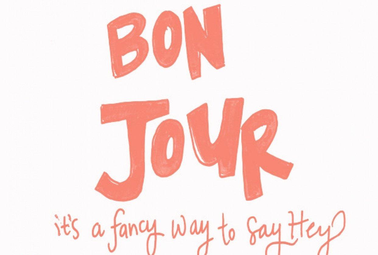 Bon Jour - student project