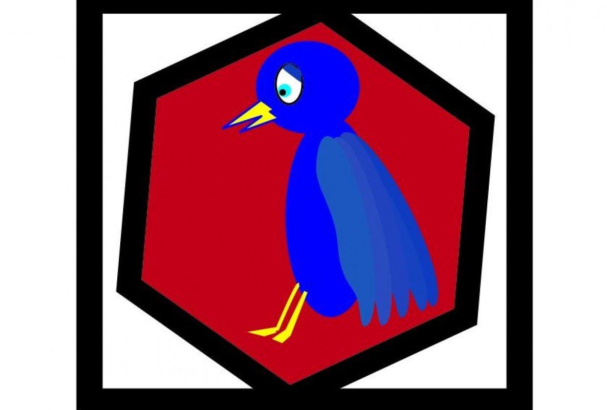 Sad bird for illustrator - student project