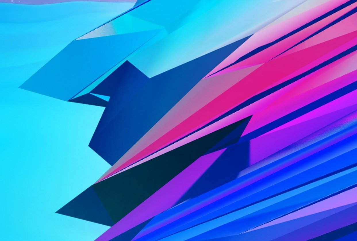 Abstract Colorful Artwork Using Photoshop and Cinema4D - student project