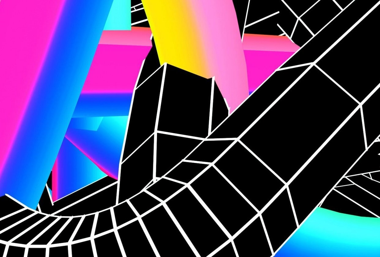 Retro 3D Twisted Lines Using Photoshop and Cinema4D - student project