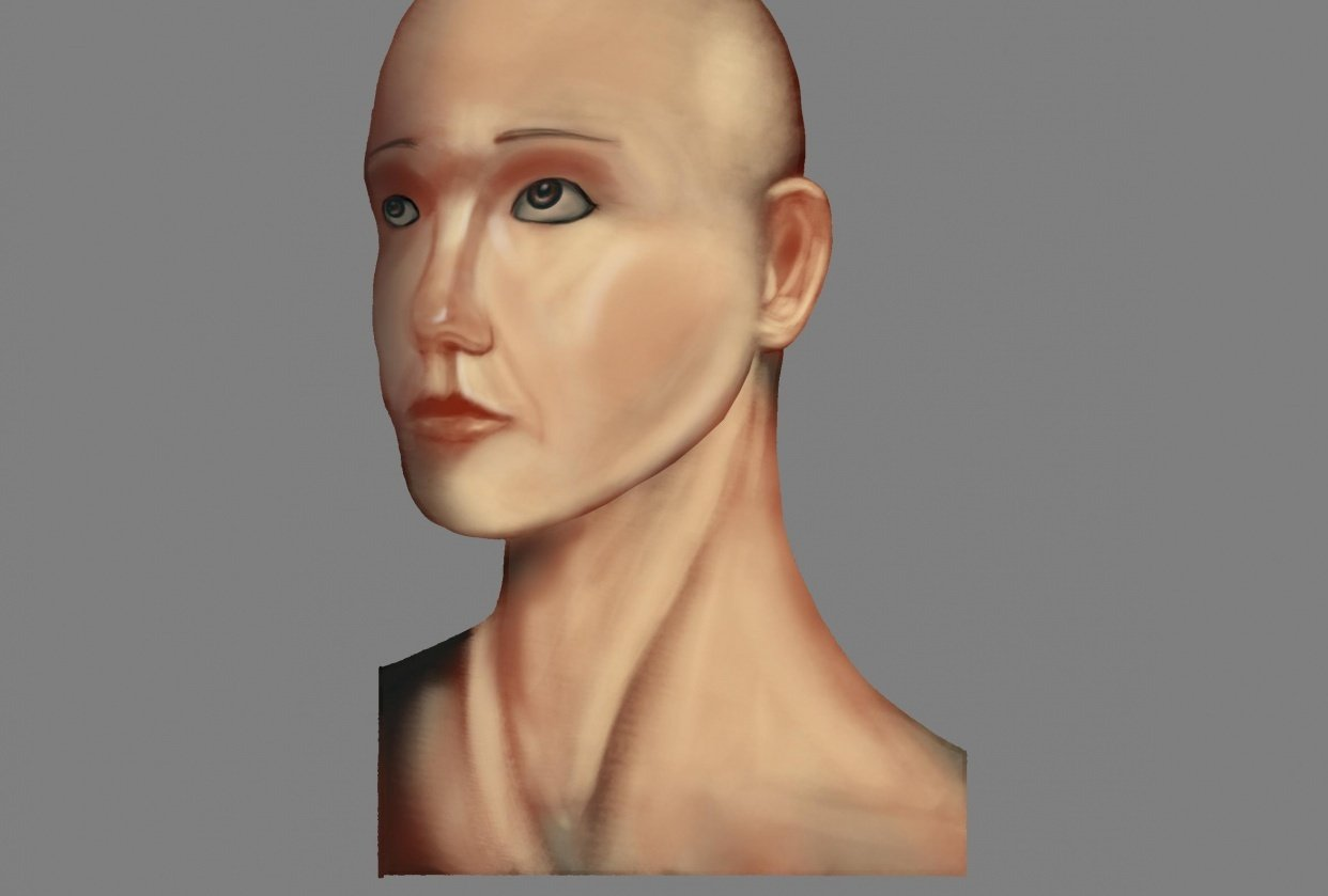Woman head render - student project