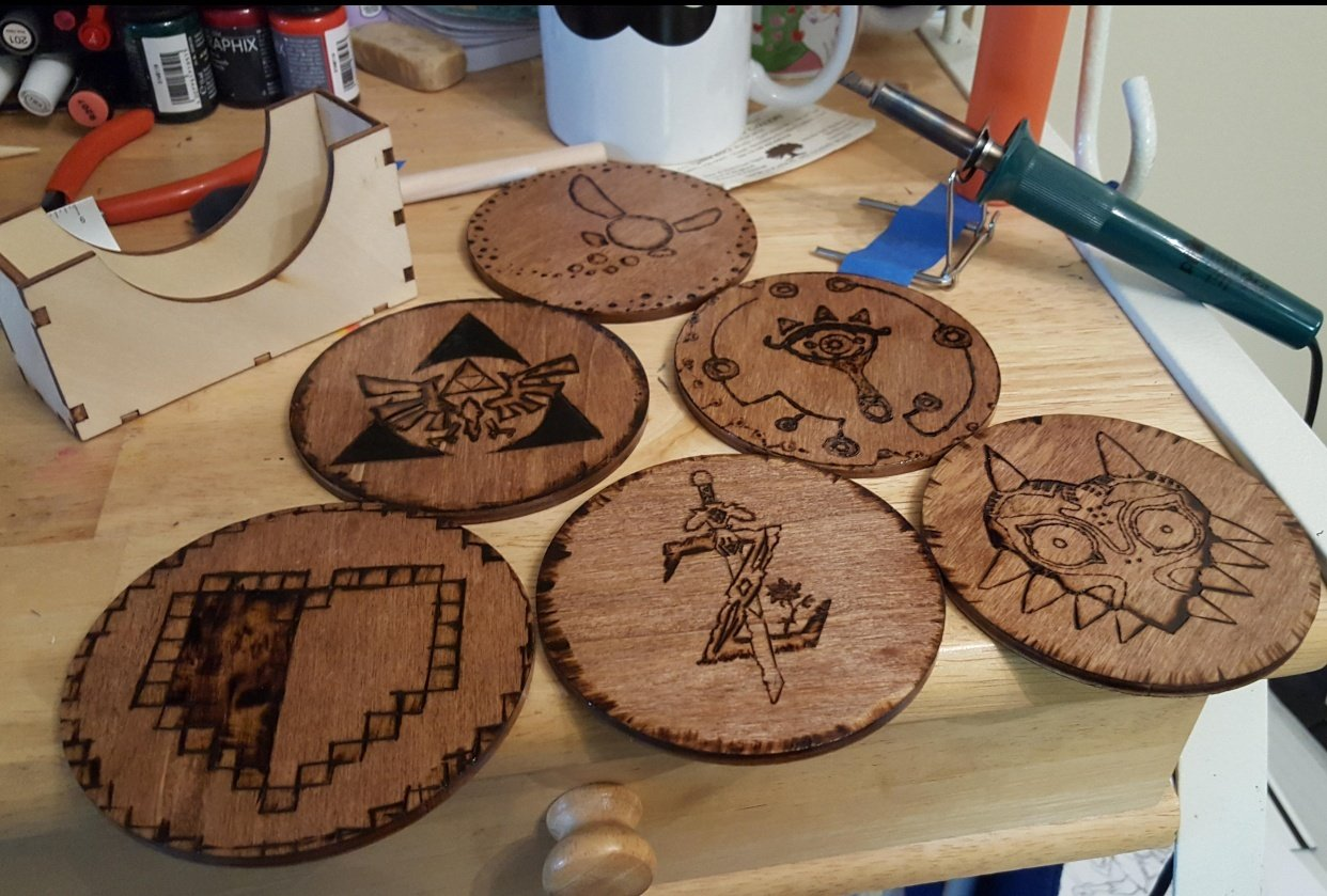Finished Coasters - student project