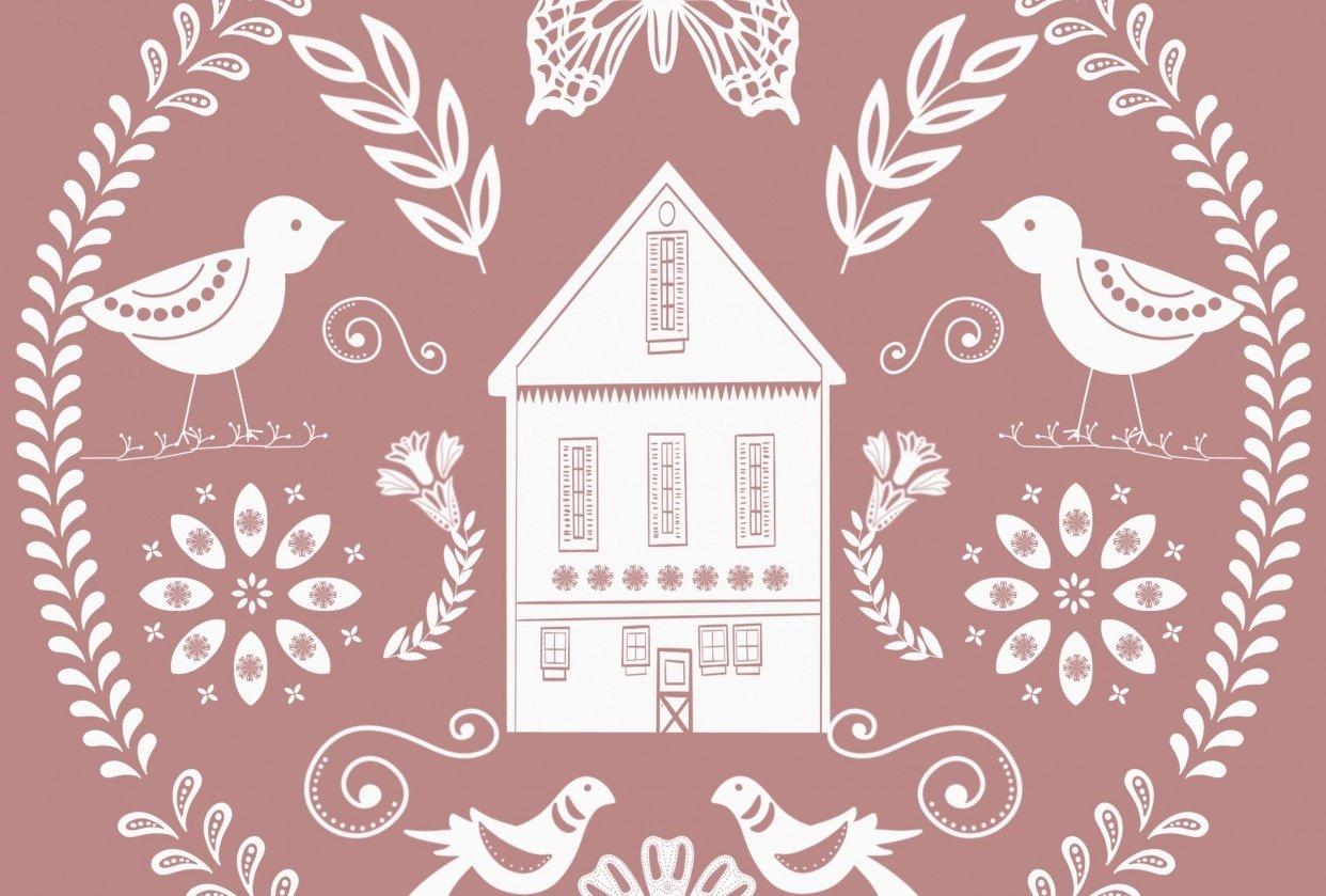 Modern Folk Art Illustrations in Procreate - student project