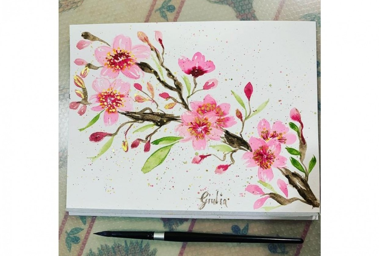 Cherry blossoms branch - student project
