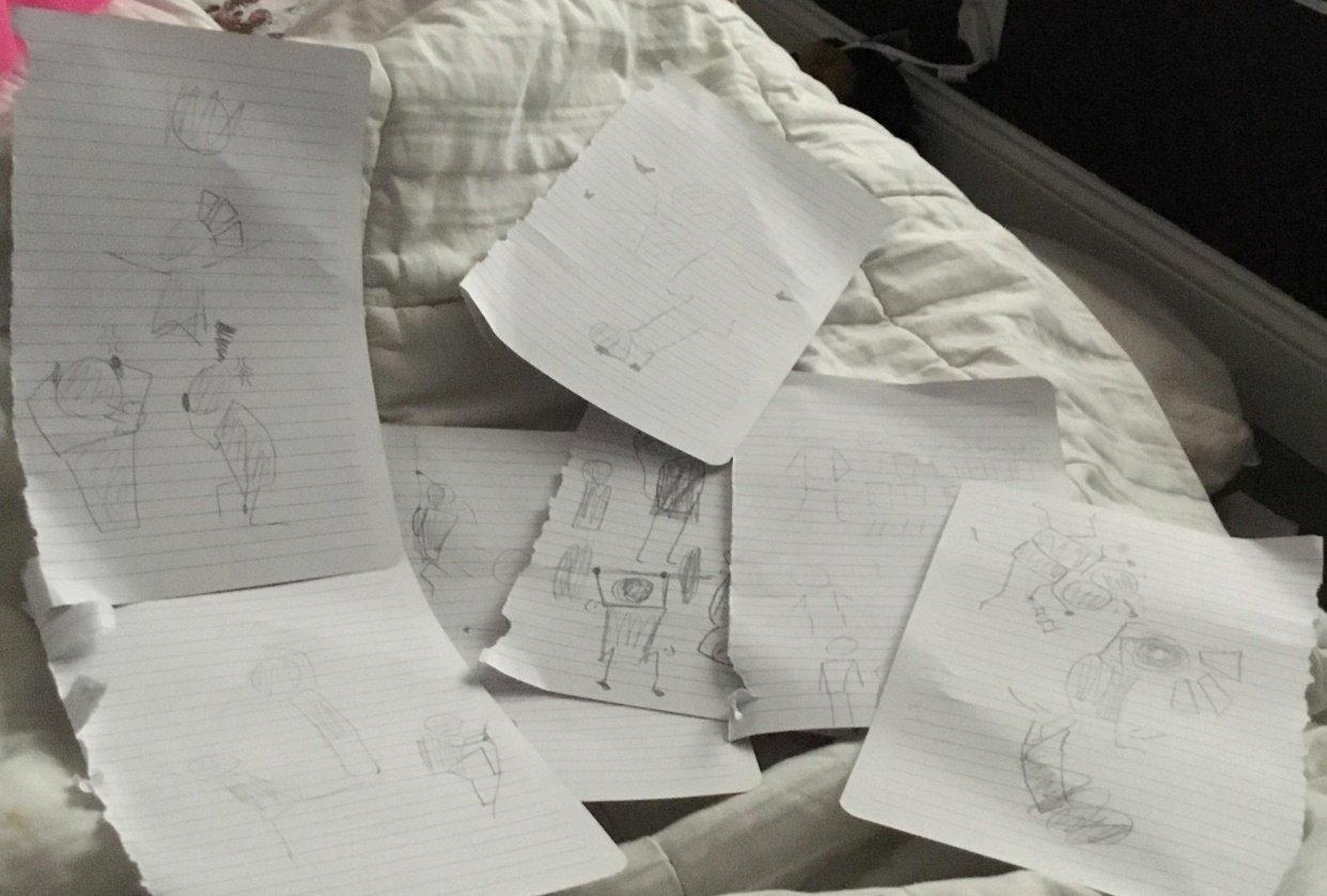 Figure doodles - student project