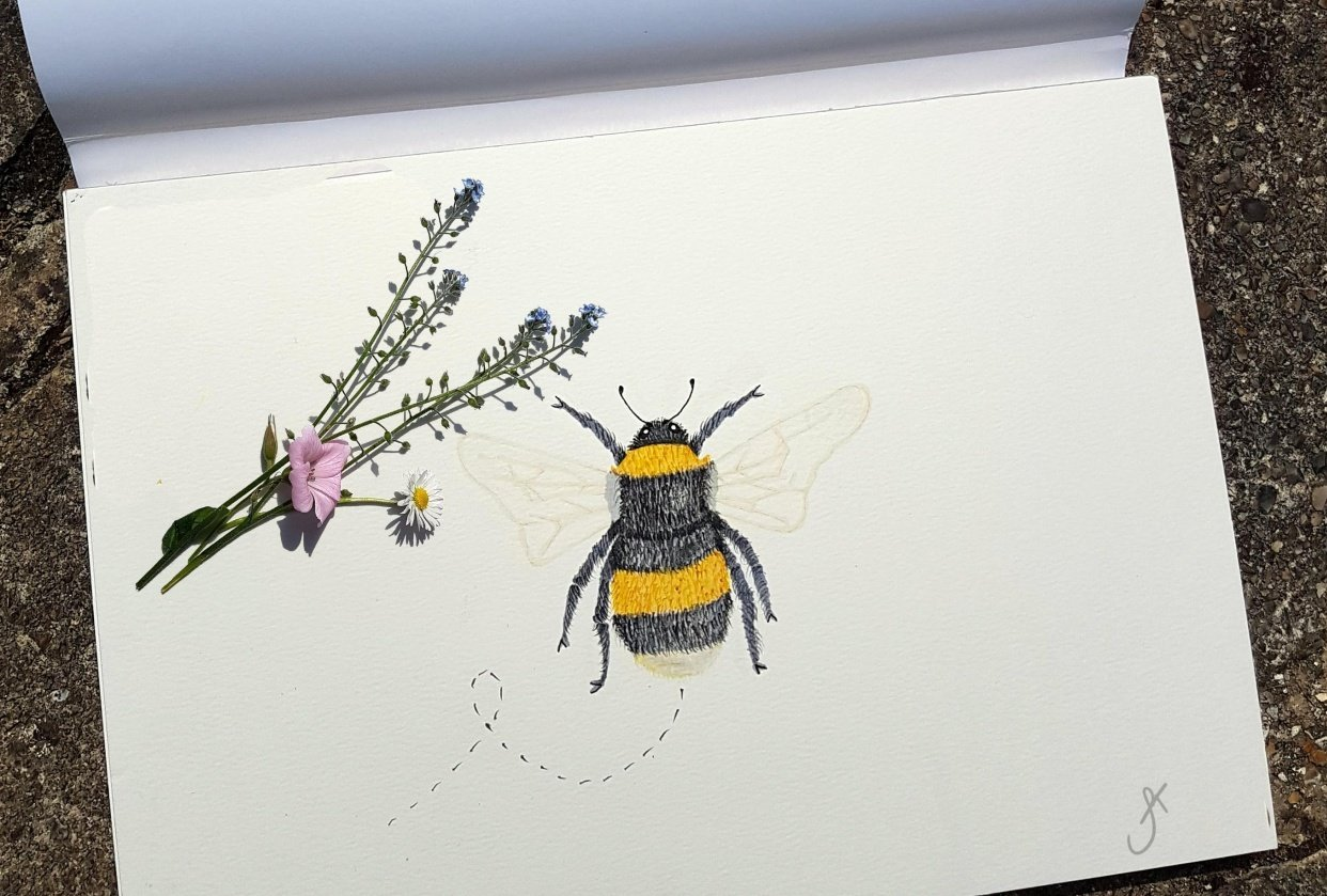 Watercolour Bee - student project