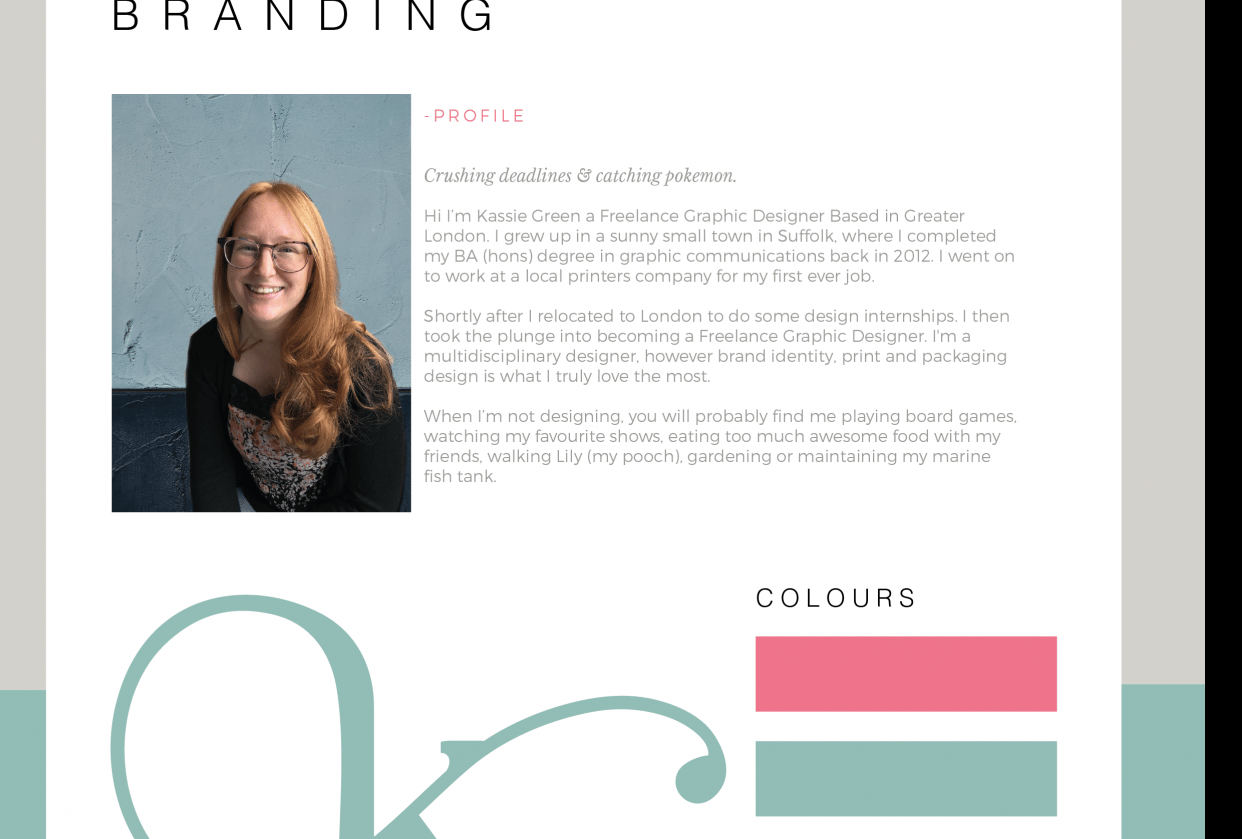 Personal Branding - student project