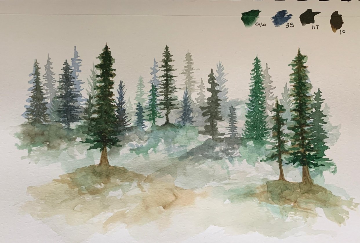 Loose Pines @cloward_creations - student project
