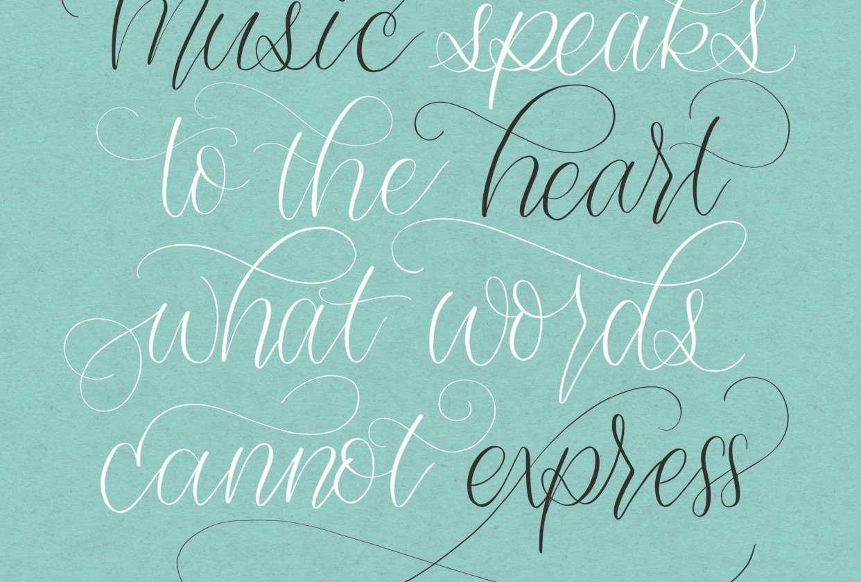 Flourish Layout Practice - Music Speaks to the Heart - student project