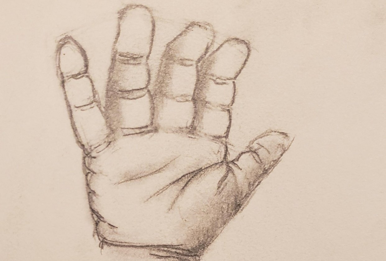 Baby Hand (Sketch) - student project