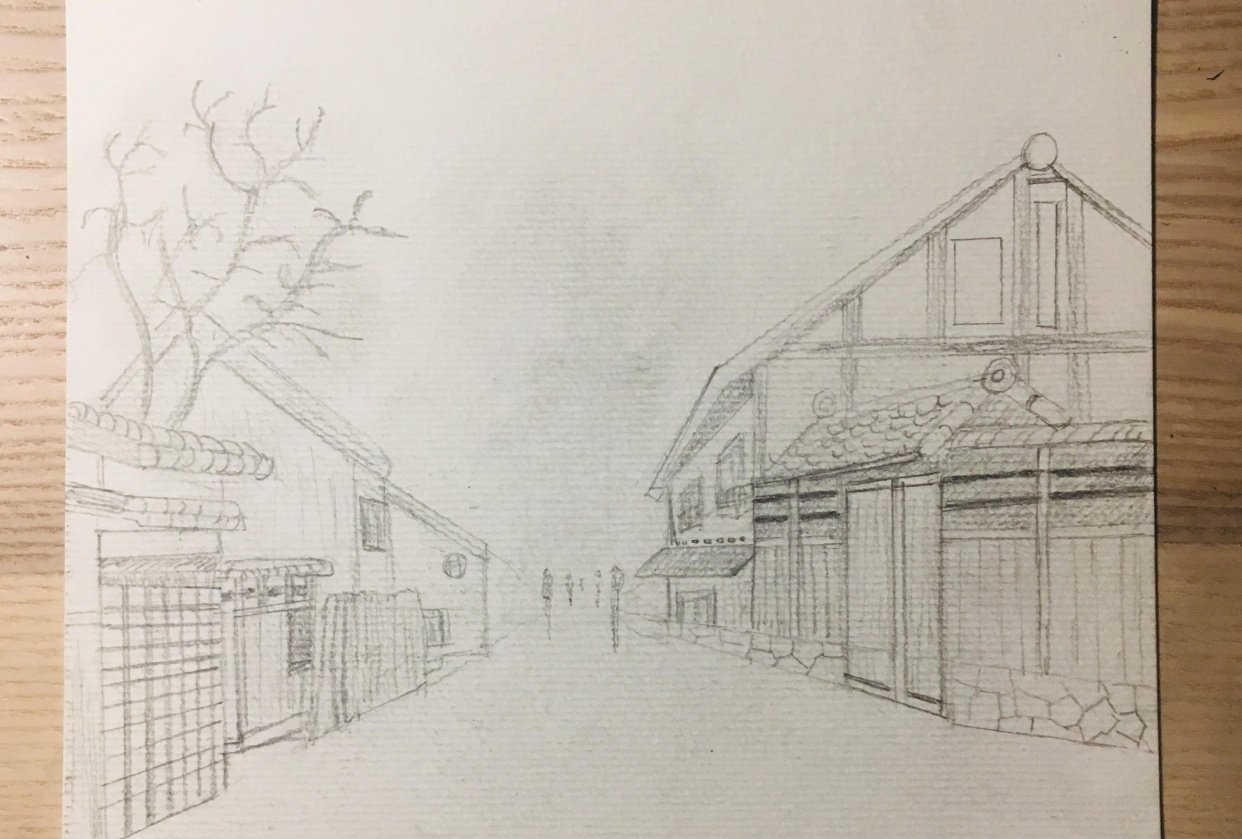 Urban Sketch - 1st attempt - student project