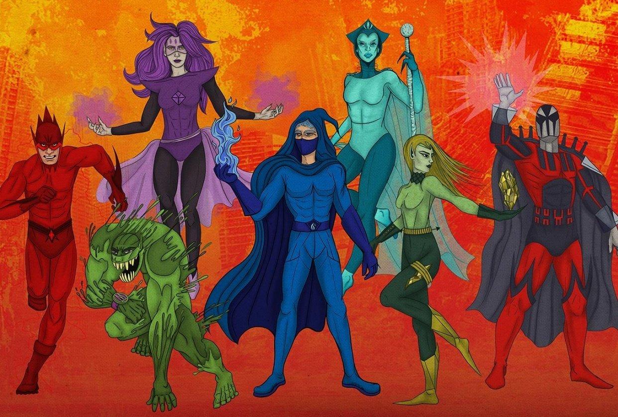 Seven Super Villains - student project