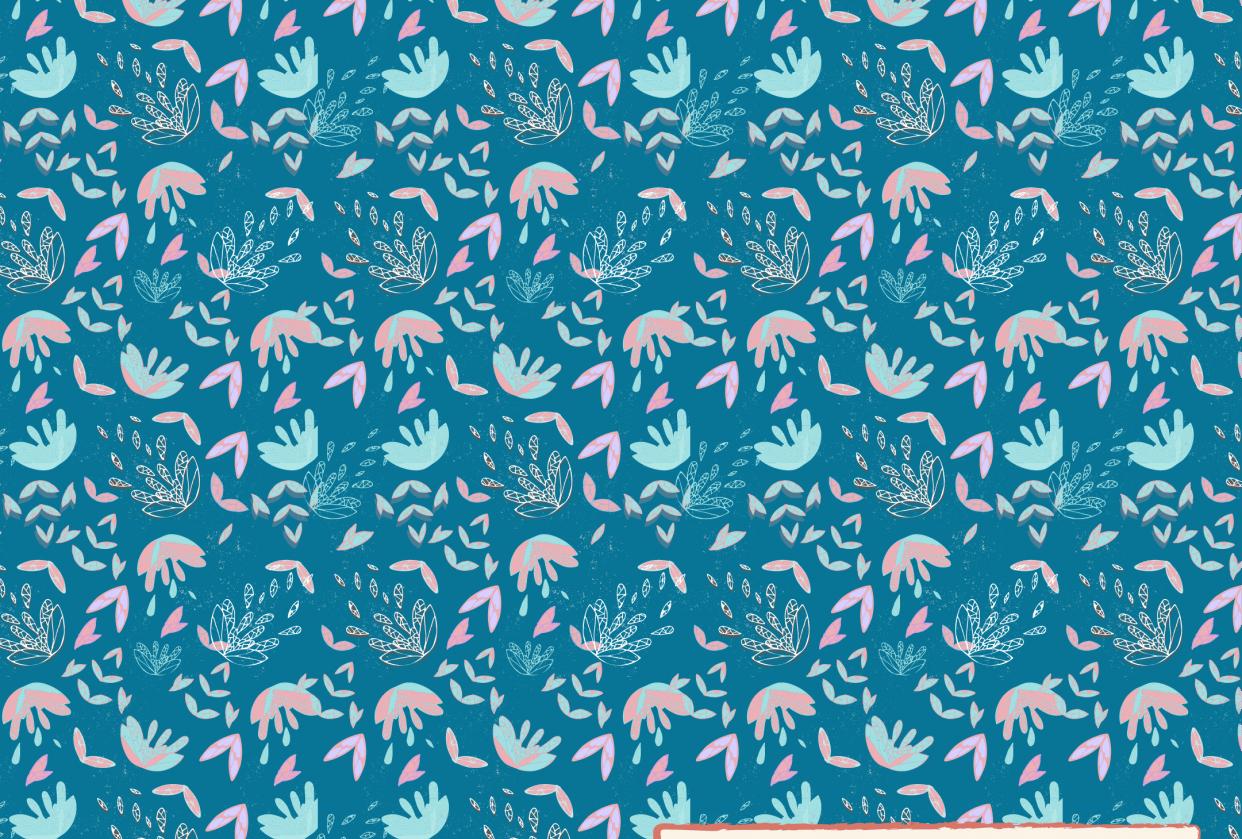 Lotus Half Drop Pattern - student project