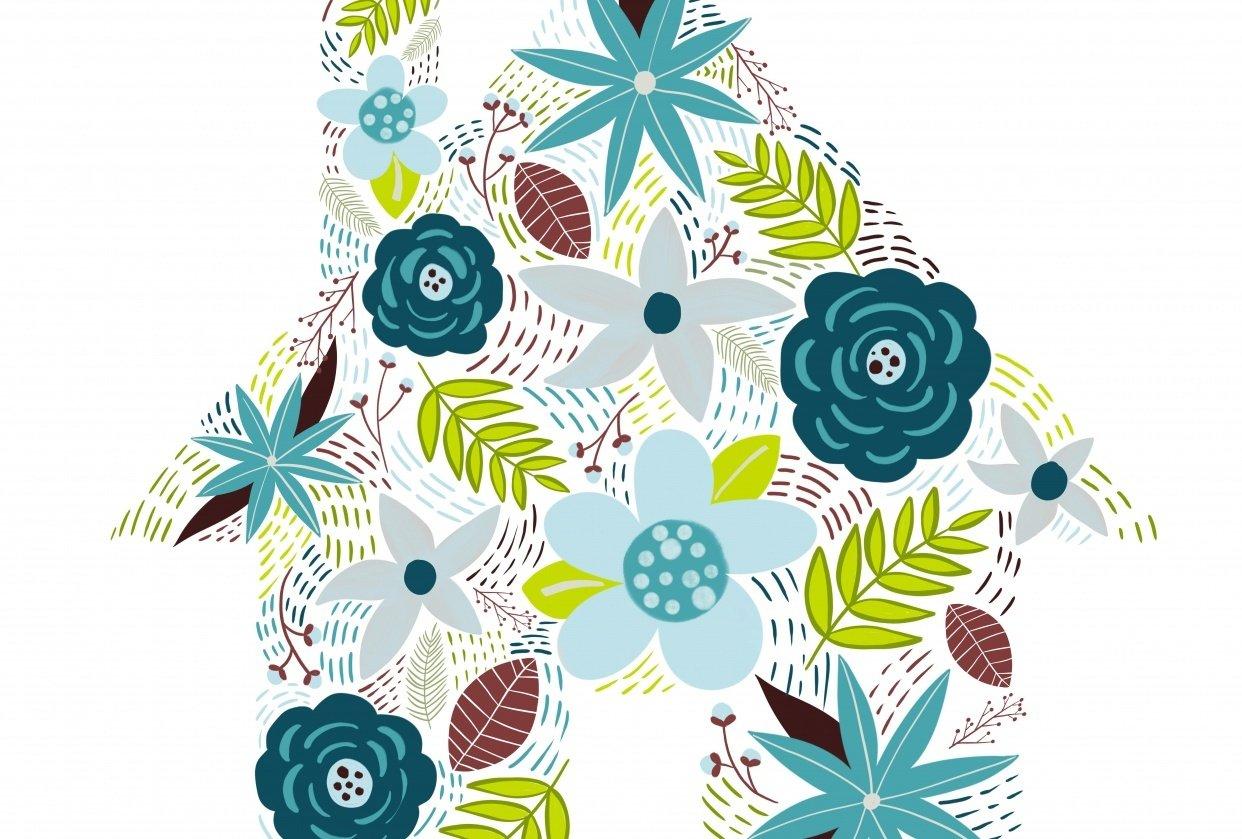 Modern Floral Illustration - student project