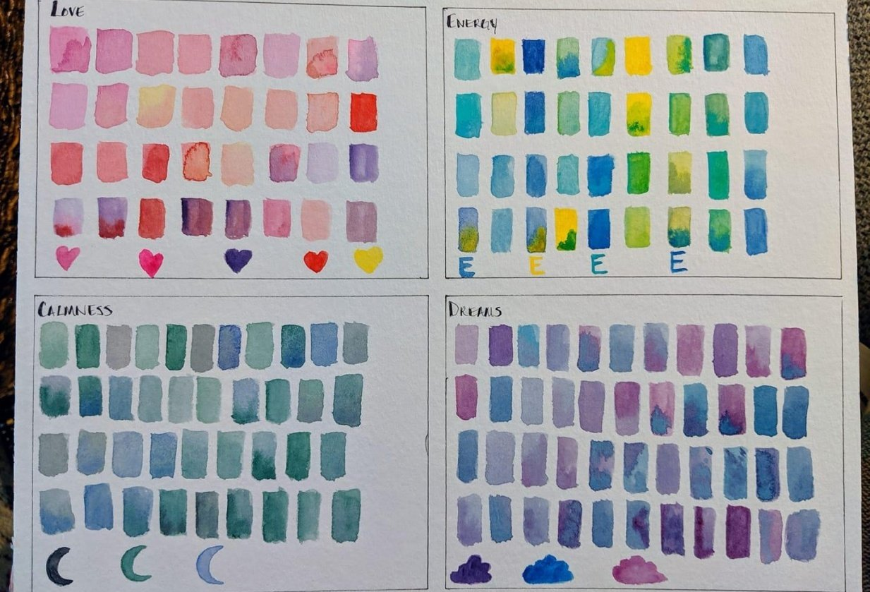 Color Mood Board - student project