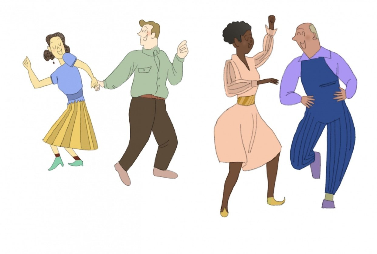 Swing dancing peeps - student project