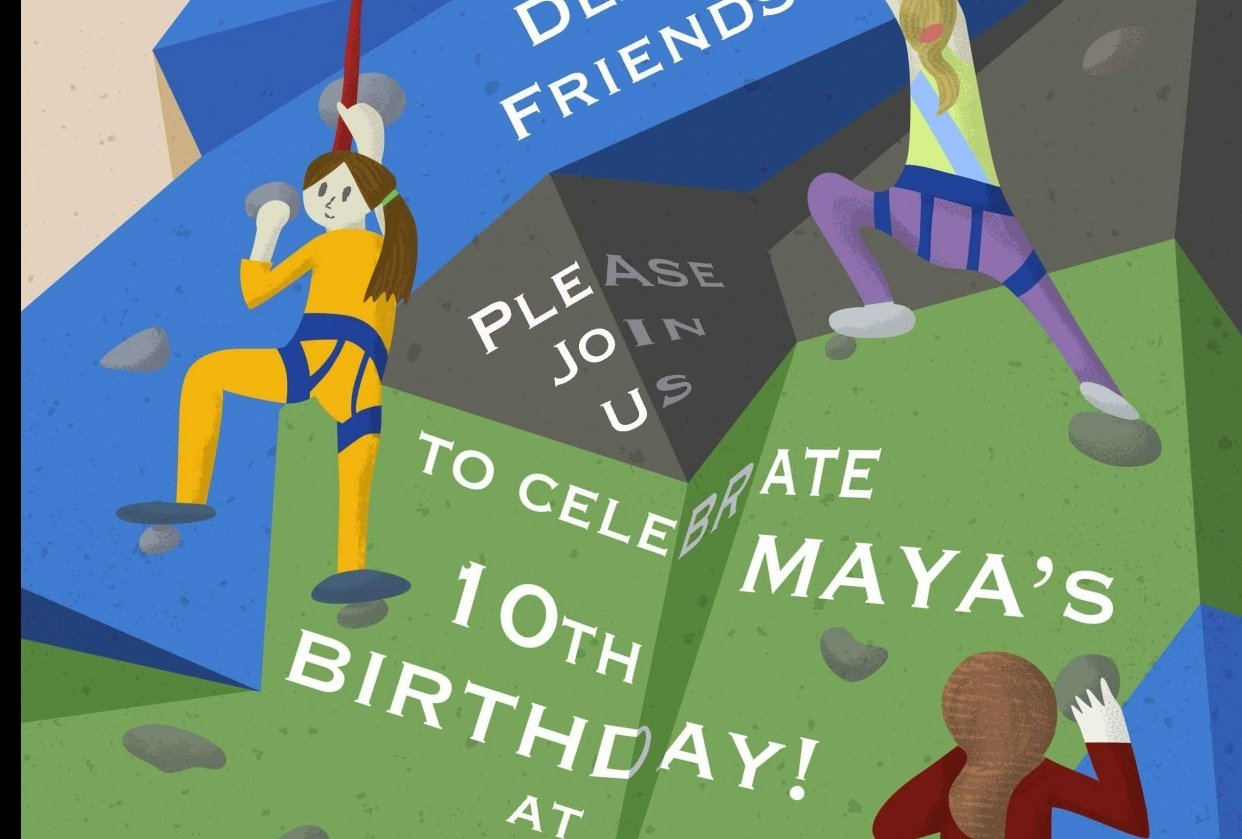 Collaboration with my daughter - Invite to her birthday - student project