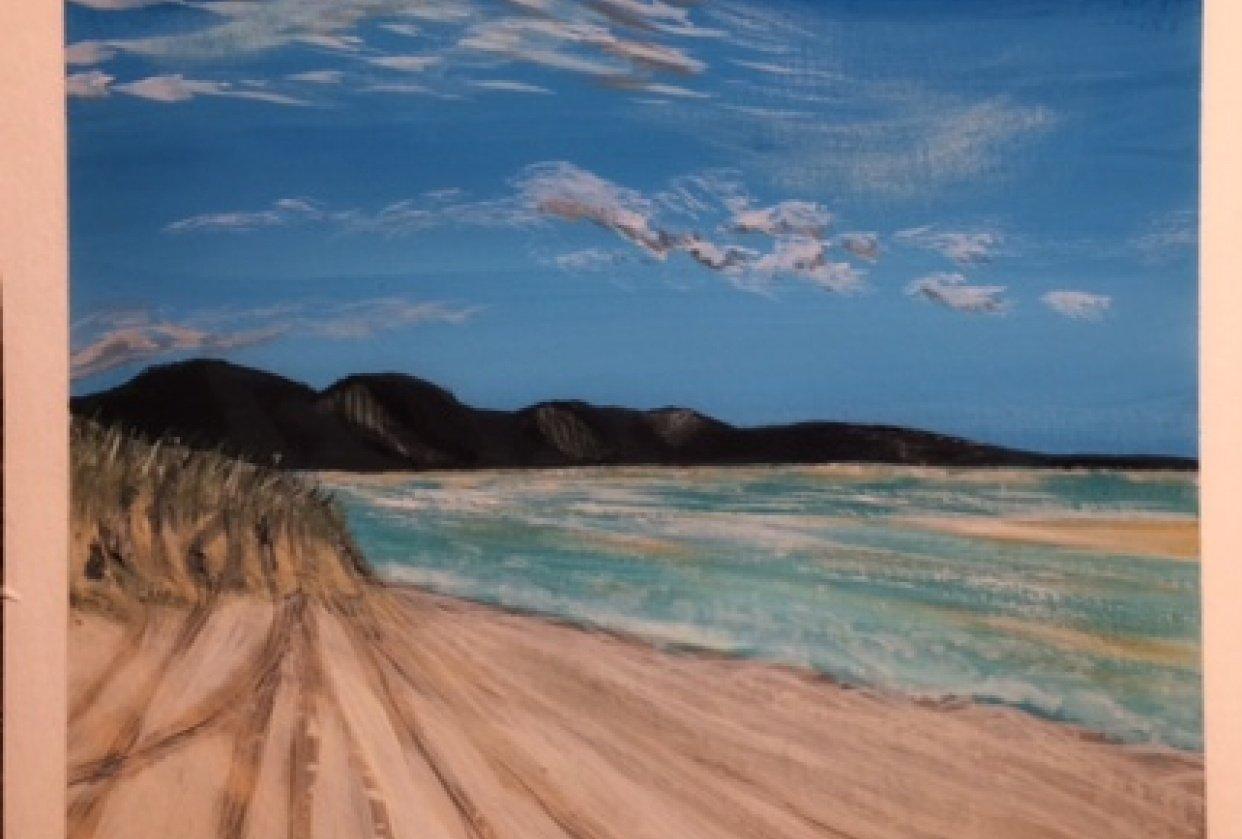 Paint a Guache landscape - student project