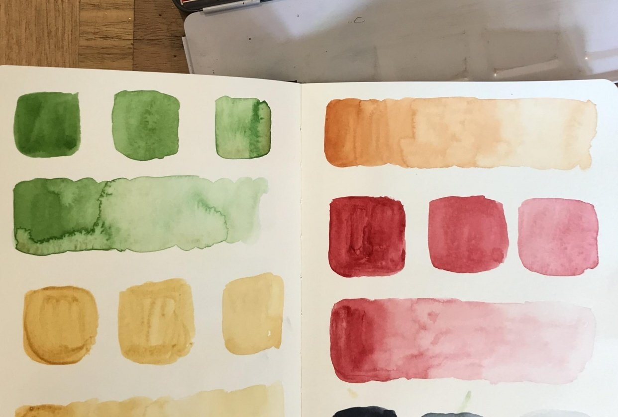 Watercolour values - student project