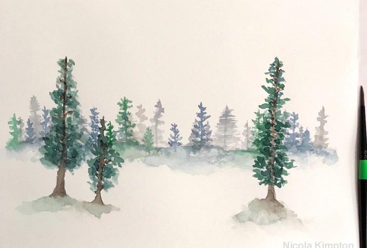 Forest Pines Landscape - student project