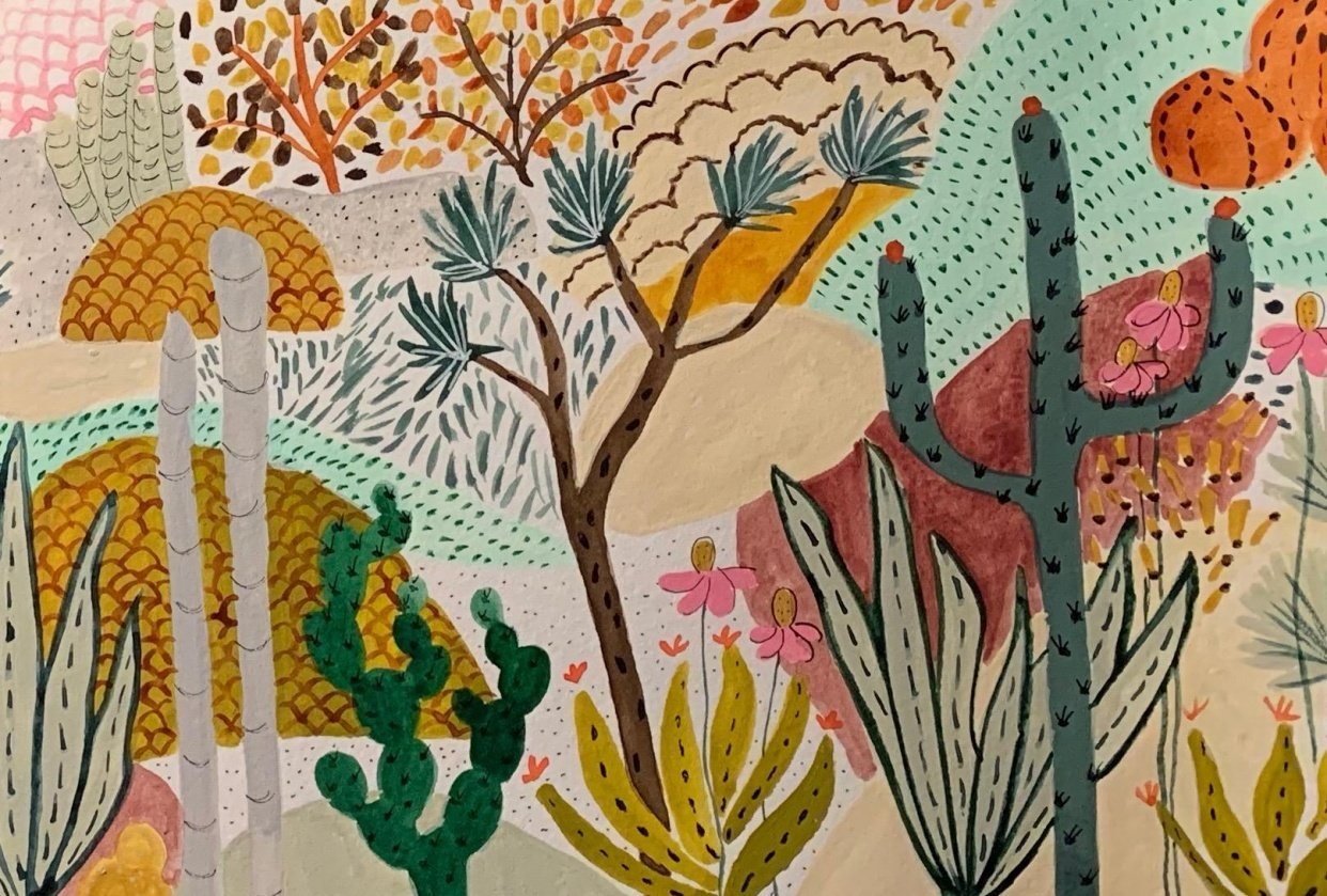 Cacti Dream Garden - student project