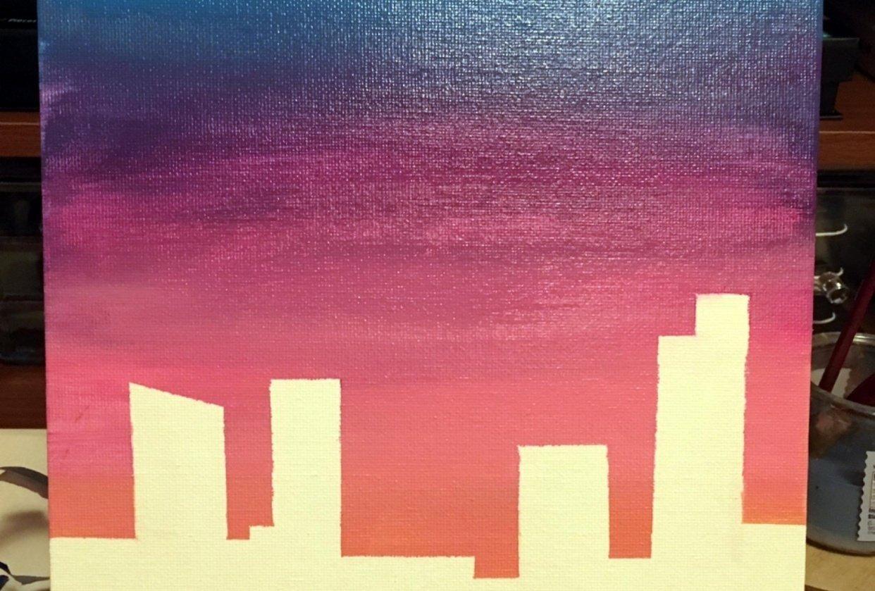 Acrylic Gradient Practice - student project