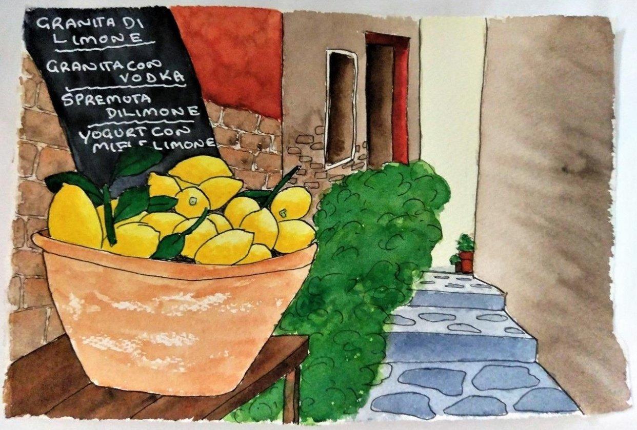 Urban Sketching - Lemons - 20190527 - student project
